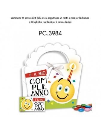 PORTACANDELA 10CM C/CUORI ROSSI